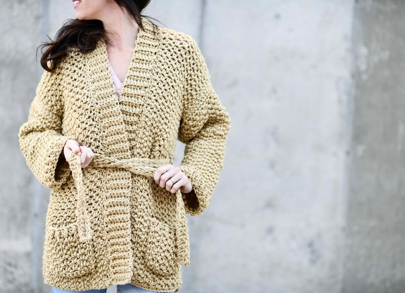 Sweater Coat Crochet Pattern Easy Cardigan Crochet Pattern Etsy