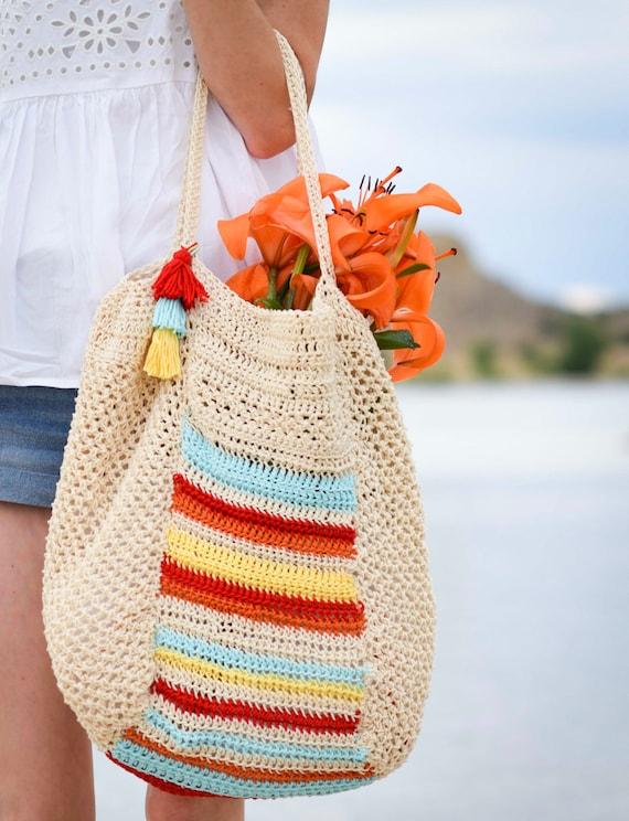 Summer Crochet Tote Pattern Hobo Bag Pattern Big Bag Crochet Etsy
