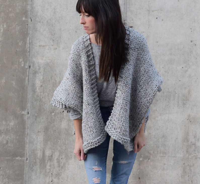 5d008c0462fec8 Knitting Pattern Kimono Sweater Knitting Pattern Telluride | Etsy