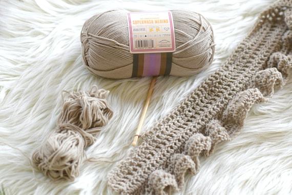 Crocheted Scarf Pattern Easy Pattern Ruffle Scarf Pattern Etsy