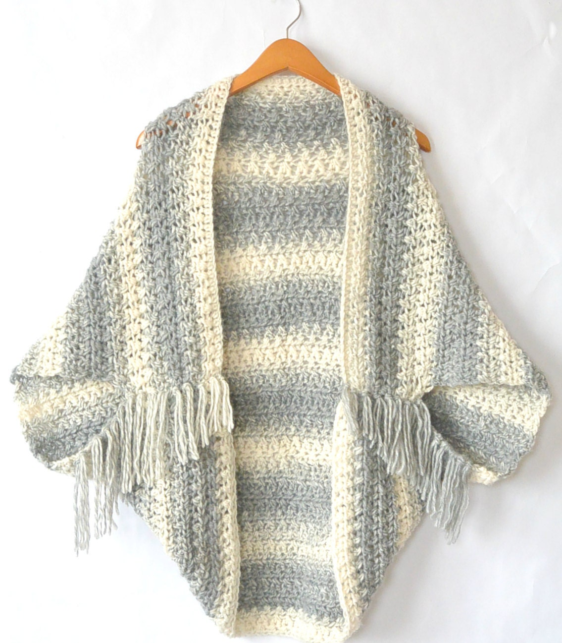 Easy Crocheted Sweater Cacoon Pattern Crocheted Shrug Etsy