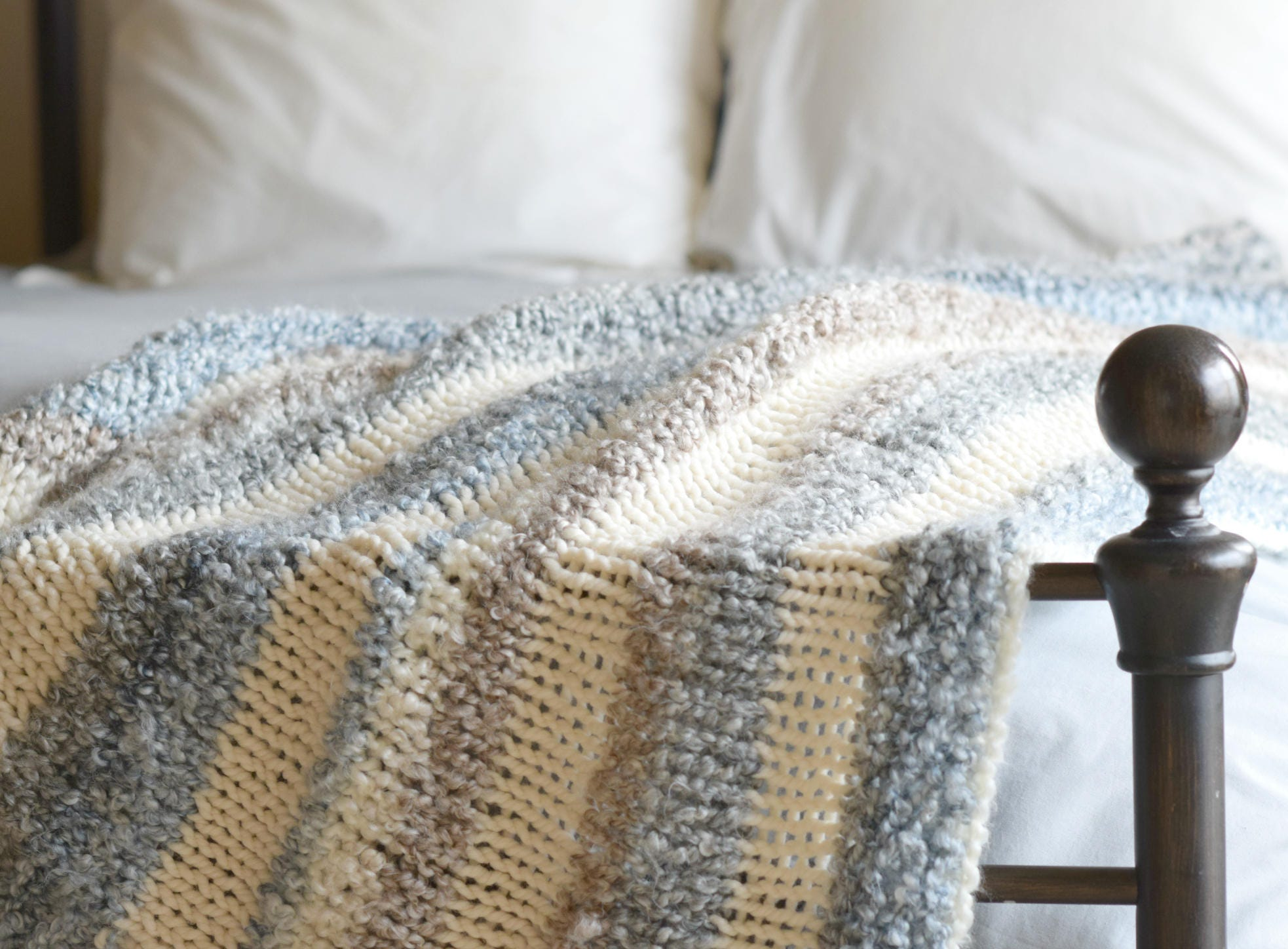 Quick Knit Throw Blanket Pattern, Easy Knit Throw Blanket, Small ...