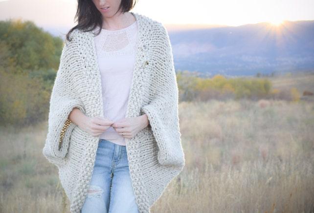 Knit Sweater Pattern Knit Blanket Sweater Knitting Pattern Etsy