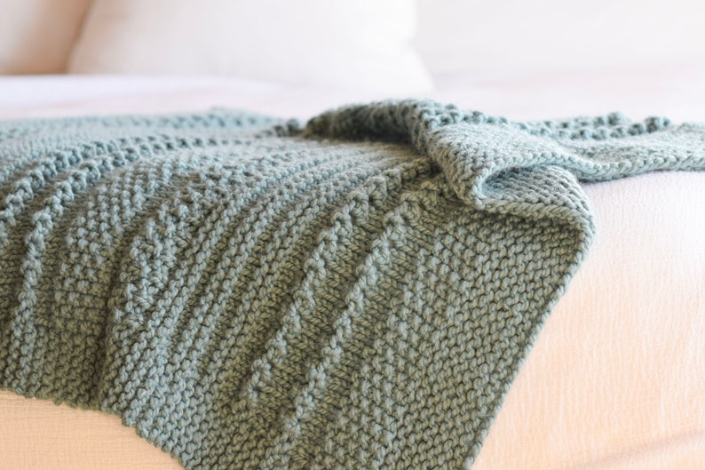 Sampler Chunky Throw Blanket Knitting Pattern Winter Cuddler image 0