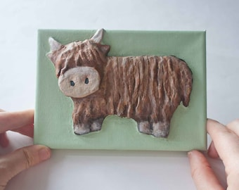 Highland Cow 3D Picture Craft Kit for Children and Adults. Suitable for beginners