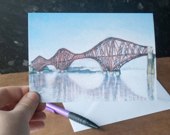 Forth Rail Bridge Father's Day Card