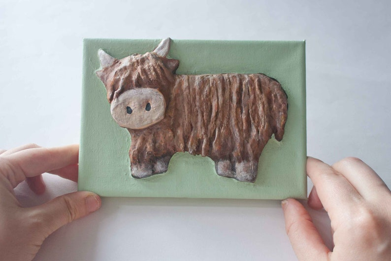 Highland Cow 3D Picture Craft Kit for Children and Adults. image 1
