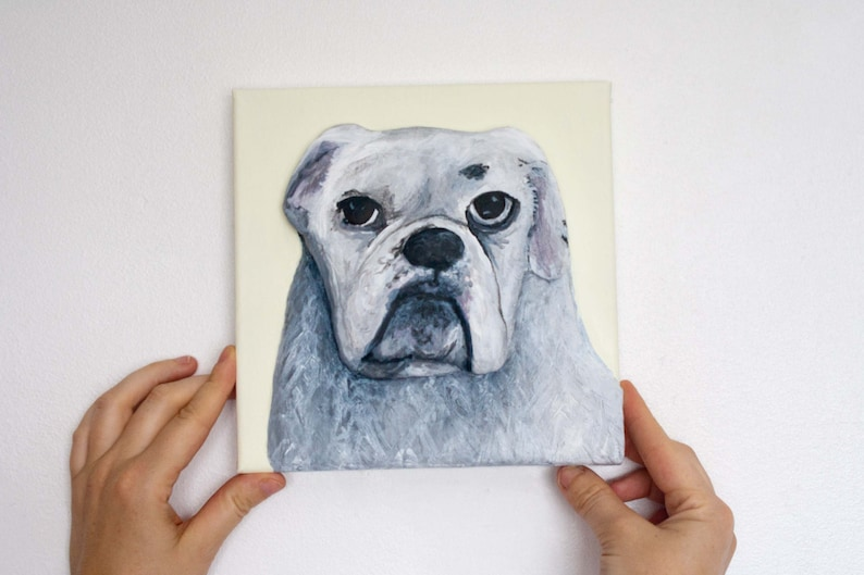 Custom 3D Acrylic Painting Commission by purple loving 8x8 inches