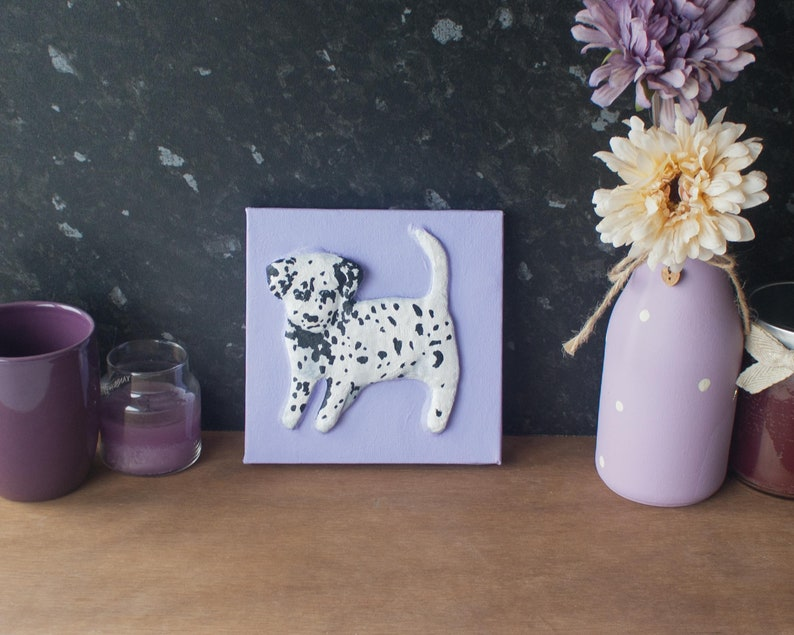 Dalmatian Dog Painting. Original 3D Acrylic Painting By image 0
