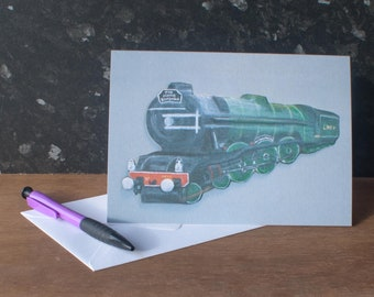 Flying Scotsman Train Father's Day Card