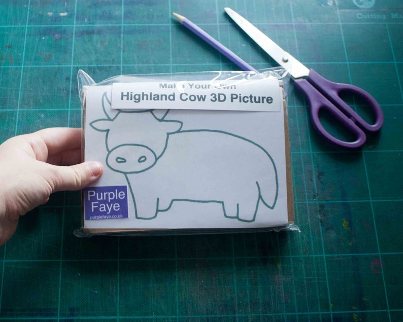 DIY Highland Cow Picture Arts and Craft Kit for Children and Small