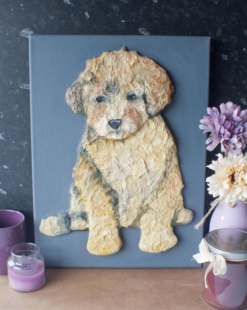 Poodle Puppy Dog Painting image 1