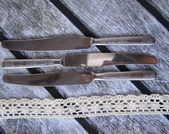 Vintage soviet knives stainless steel housewares serving cutlery set kitchen russian flatware russian forks knives soviet cutlery metal USSR