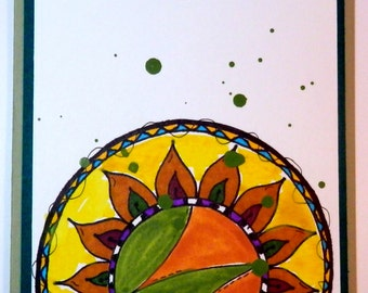Greeting Card, Blank Card, Handmade, Watercolors & Marker