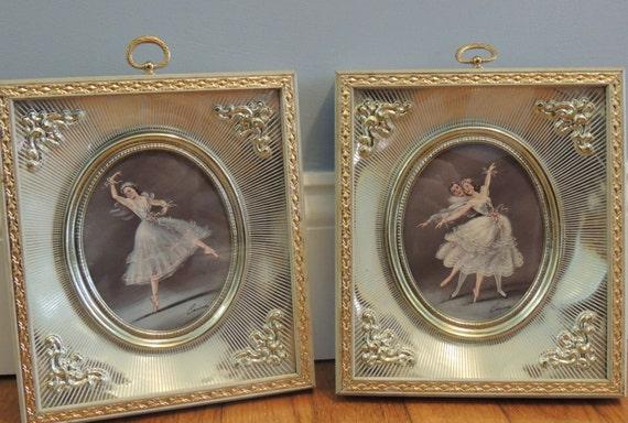 Vintage Pair of Carina Ballerina Framed Prints, Shadow Box Framed ...