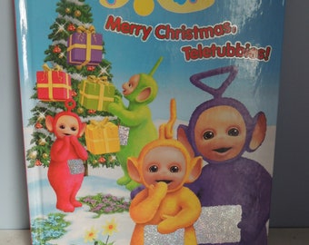 Teletubbies Merry Christmas Teletubbies book, Vintage Teletubbies Book, Vintage Children's Christmas Story, Tinky Winky, Dipsy, Laa-Laa, Po