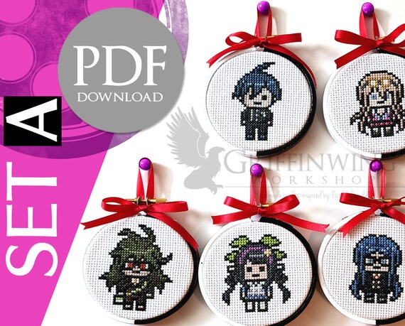Danganronpa V3 Sprites Cross Stitch Set A Etsy Read ryoma hoshi from the story danganronpa sprite edits by despairwhore (ultimate whore) with 1,220 reads. danganronpa v3 sprites cross stitch set a