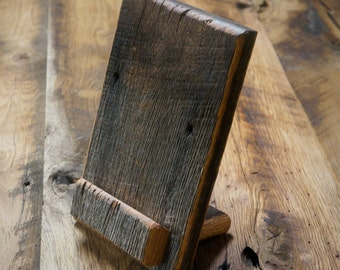 Reclaimed Wood Tablet Stand