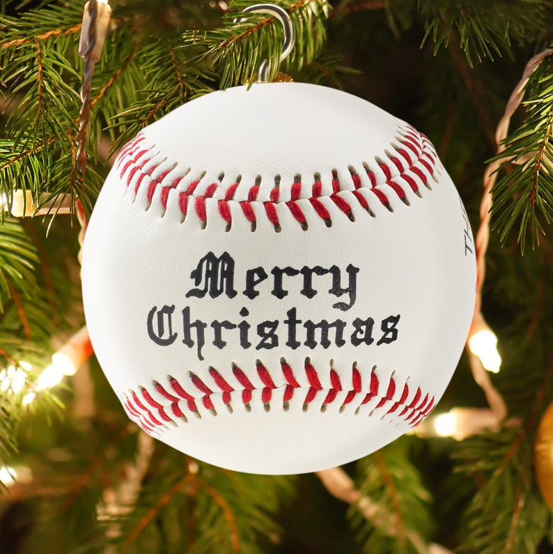 Personalized Custom Baseball Christmas Ornament image 0