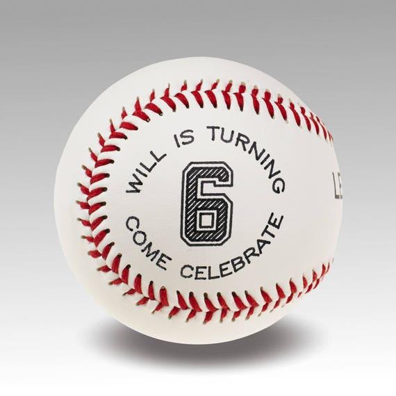 Custom Baseball Party Invitations Set Of 12