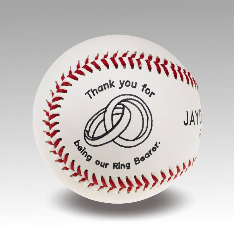Ring Bearer Gift  Personalized Baseball image 0