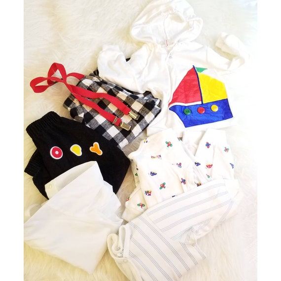 cba4c80b0 Vintage 2T Boys Clothing LOT 80 s Carter s Pajamas
