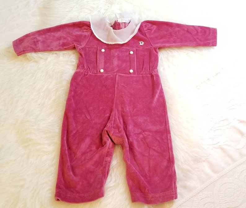 d5b500bdefed Christian Dior Velour One Piece Romper Baby Size 12 Months