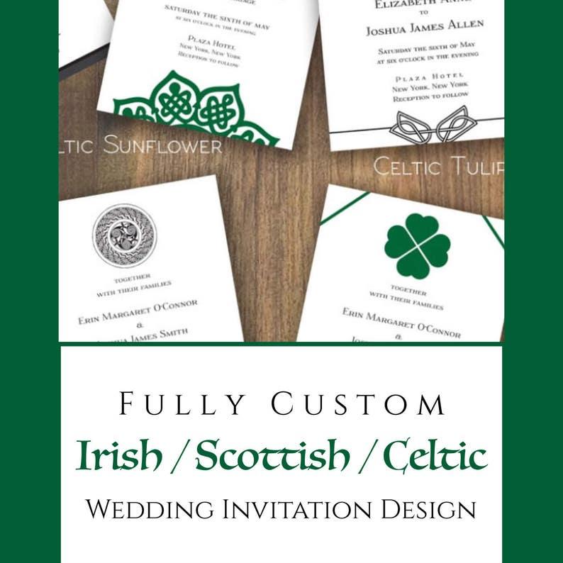 9cd3ae962 Fully Custom Irish / Scottish / Celtic Wedding Invitation | Etsy