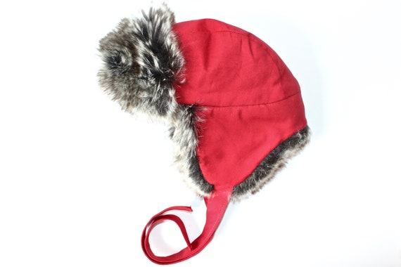 04bf640b142 Teddy Bear Trapper Hat Red