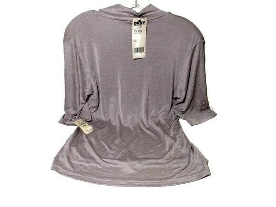 VTG Neiman Marcus DKNY Blouse Silk Blend Lavender