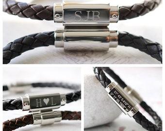 e79c6dcc4e9b Personalised Men s Bracelet - Personalised Men s Gift - Personalised  Bracelet - Men s Personalised Bracelet