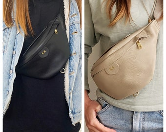 Leather Bum Bag - Personalised Leather Bag