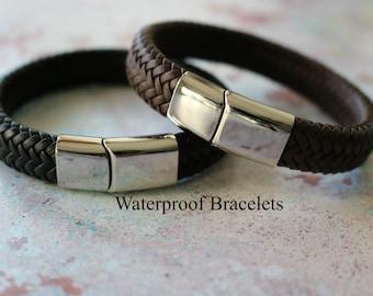 Teenage Leather Bracelet - Boys Bracelet - Teenage Personalised Bracelet