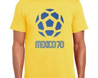 Mexico 70 | World Cup Inspired | Football | Soccer | Retro | Colors | Juanito | Brasil | Pele | Greatest Ever | T Shirt