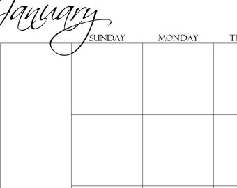 Printable Happy Planner Monthly Inserts, Undated