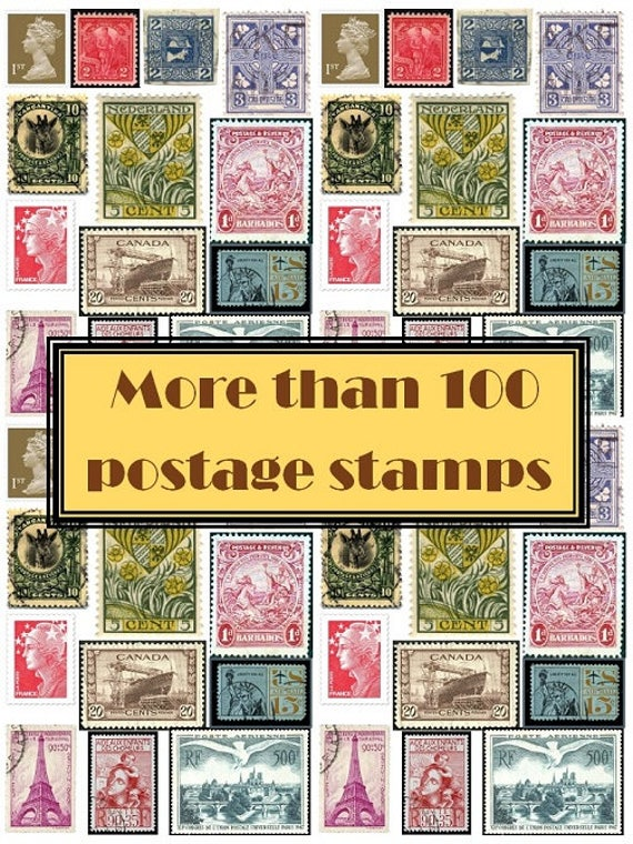 photograph regarding Stamps Printable named Electronic Obtain. POSTAGE STAMPS. Printable paper.