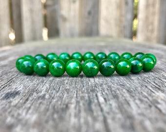 Maw Sit Sit Jadeite Bracelet Grade A 8mm Chromium Jadeite Beaded Gemstone Bracelet Jade Albite Bracelet Chrome Jade Bracelet Gift Bracelet