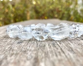 Hollandite Quartz Bracelet Star Hollandite Quartz Bracelet Clear Quartz with Black Star Inclusion Bracelet Meditation Bracelet Gift Bracelet