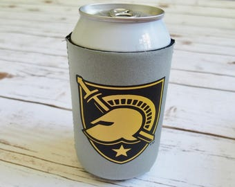 USMA Can Holder West Point Beverage Insulator Army Can Cooler Athena Shield Duty Honor Country West Point Gifts