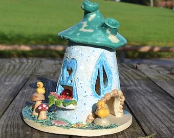 Summer Ceramic Windlight House, Elven House, Wichtelhaus