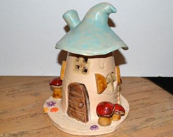 Ceramic Windlight House, Elven House, Wichtelhaus