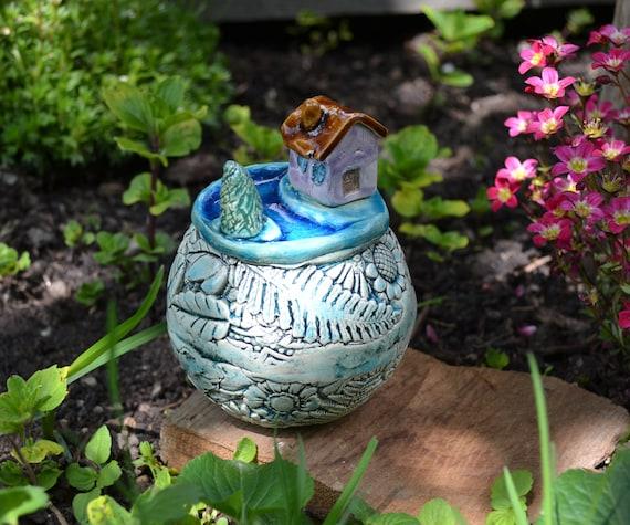 Rabatt Rosenkugel Gartenkeramik Dekoration Handarbeit Deko Keramik Unikat Kugel