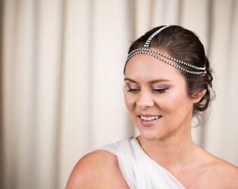 Athena Crystal Headchain - Bridal Hair Jewellery