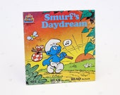Vintage Smurf 39 s Daydream Record Book for Kids, The Smurfs Vinyl Record Set w Read Along Book, Kids Record Album Sealed, Smurfs Vinyl Album