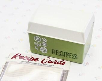 recipe card box etsy