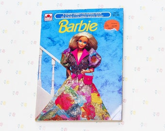 Barbie Coloring Book Etsy
