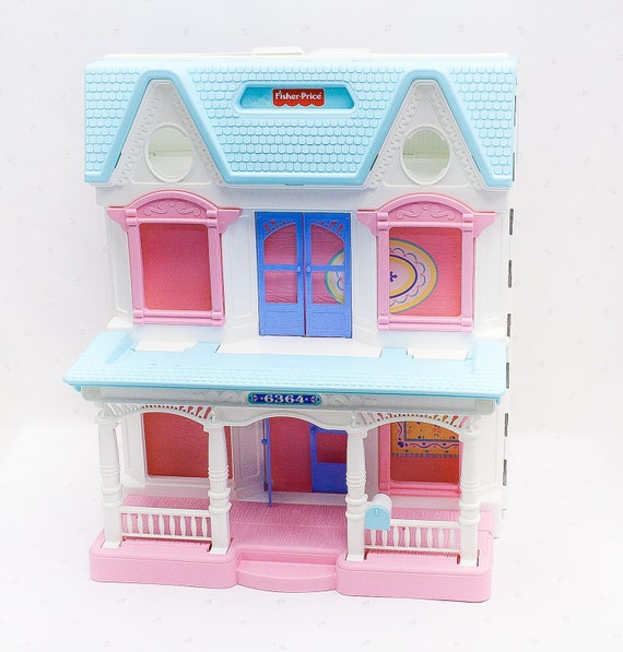 90s Vintage Fisher Price Loving Family Dollhouse Vintage Doll House Fisher Price Toys For Kids Vintage Toy House 90s Kids Toy House