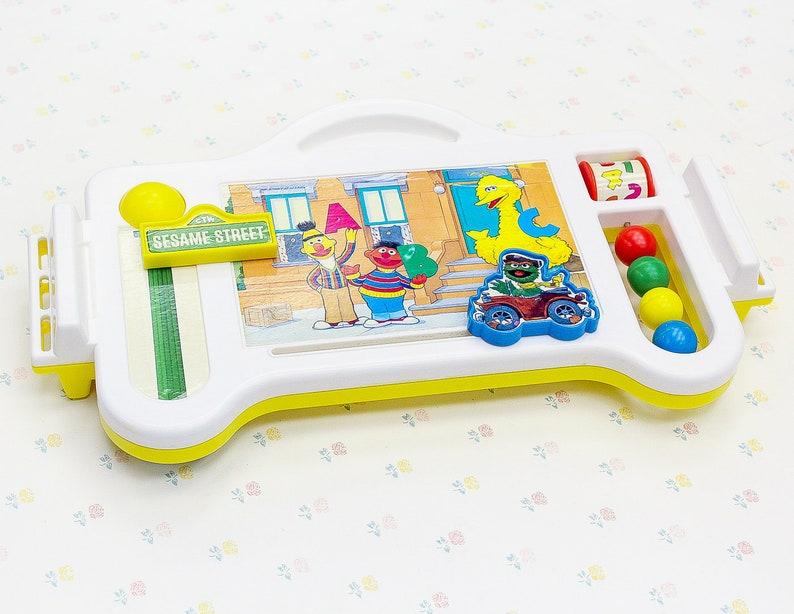 Sesame Street Toy For Toddler Kids Food Tray Vintage Baby