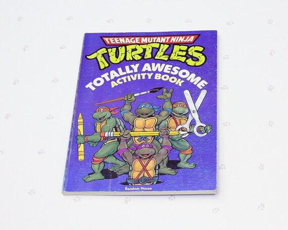 Teenage Mutant Ninja Turtles Cahier Dactivites Caricature Etsy