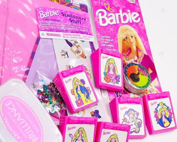 Vintage Barbie Briefpapier Meisje Gift Set Barbie Cadeau Voor Het Meisje Jaren 90 Meisje Speelgoed Barbie Pogs Barbie Stempels Voor Kid Vintage